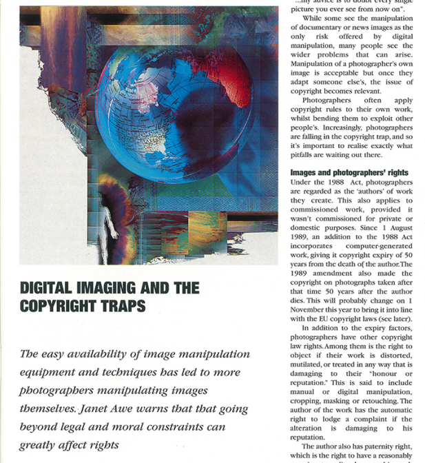 "Photographic Journal: ""Digital Imaging & the Copyright Traps"""
