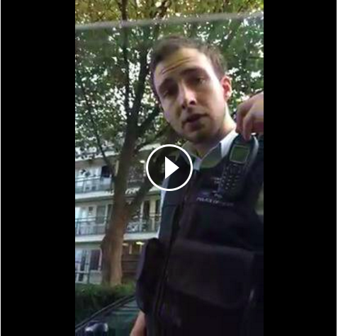PC Savage - sadly, a real London police officer